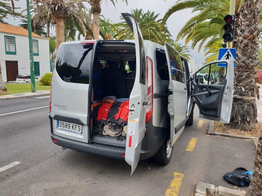 furgoneta para excursiones